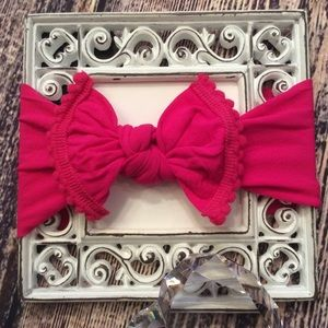 Other - Baby Girls Hot Pink Knot Bow Headband